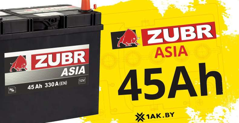 ZUBR ASIA 45 Ah: технические характеристики аккумуляторной батареи