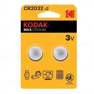 Элемент питания Kodak CR2032-2BL (блистер 2шт.), Китай 0