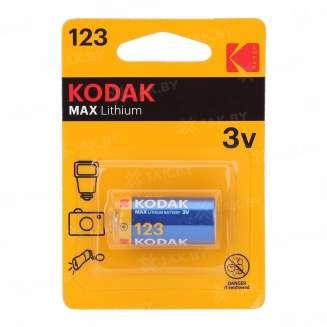 Элемент питания Kodak CR123 [K123LA] (уп.TRAY 1шт.), Китай 0