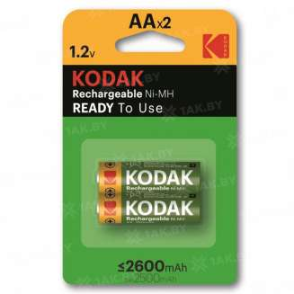 Элемент питания Kodak HR6-2BL 2600mAh [KAAHR-2/2600mAh] (блистер 2 шт.AA), Китай 0
