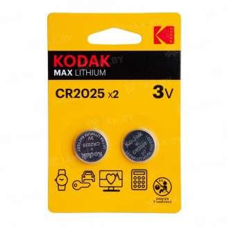 Элемент питания Kodak CR2025-2BL (блистер 2шт.), Китай 0