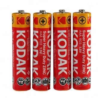 Элемент питания Kodak R03-4S EXTRA HEAVY DUTY [K3AHZ 4S] (уп. TRAY 4шт.AAA), Китай 0