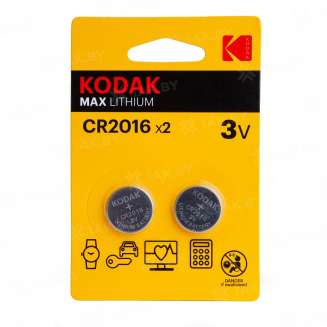Элемент питания Kodak CR2016-2BL (блистер 2шт.), Китай 0