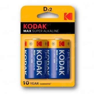 Элемент питания Kodak MAX LR20-2BL [KD-2] (блистер 2шт. D), Китай 0