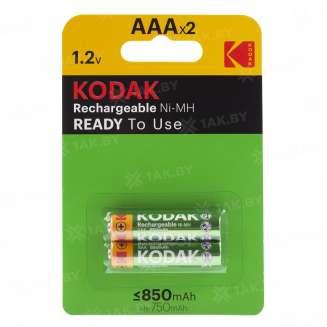 Элемент питания Kodak HR03-2BL 850 mAh Pre-Charged [K3AHRP-2/850mAh] (блистер 2 шт.AAA), Китай 0