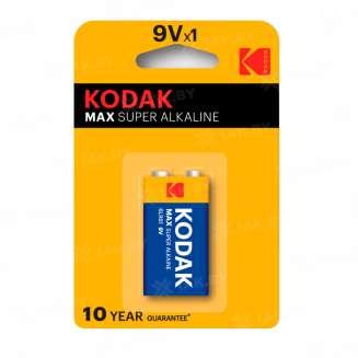 Элемент питания Kodak MAX 6LR61-1BL [K9V-1] (блистер 1шт. 9V), Китай 0