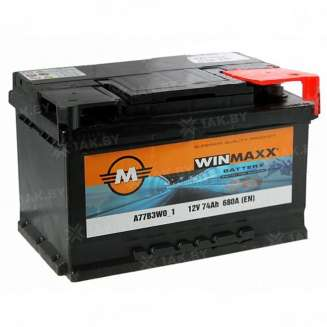Аккумулятор WINMAXX (74 Ah) 680 A, 12 V Обратная, R+ 0