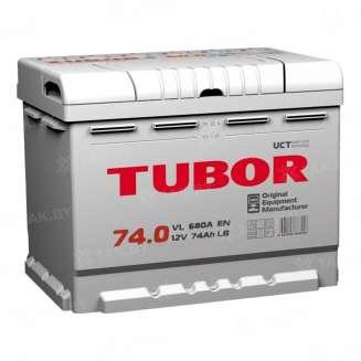 Аккумулятор TUBOR (74 Ah) 680 A, 12 V Обратная, R+ 0