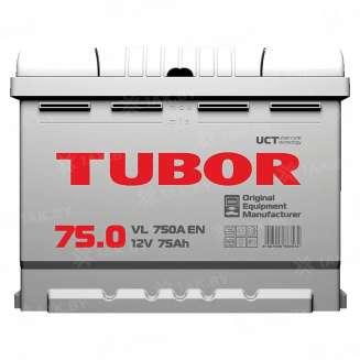 Аккумулятор TUBOR (75 Ah) 750 A, 12 V Обратная, R+ 0