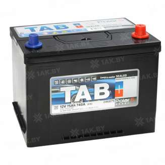 Аккумулятор TAB (75 Ah) 740 A, 12 V Обратная, R+ 0