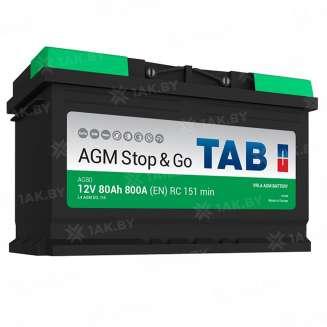 Аккумулятор TAB (80 Ah) 800 A, 12 V Обратная, R+ 0