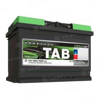 Аккумулятор TAB (70 Ah) 760 A, 12 V Обратная, R+ 0