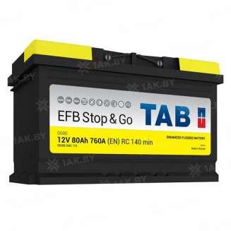 Аккумулятор TAB (80 Ah) 760 A, 12 V Обратная, R+ 0