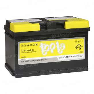Аккумулятор TOPLA (65 Ah) 650 A, 12 V Обратная, R+ 0