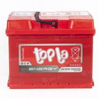 Аккумулятор TOPLA (60 Ah) 550 A, 12 V Обратная, R+ 2