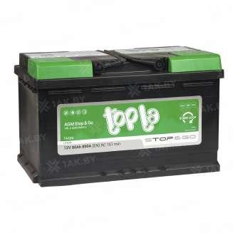Аккумулятор TOPLA (80 Ah) 800 A, 12 V Обратная, R+ 1