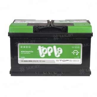 Аккумулятор TOPLA (80 Ah) 800 A, 12 V Обратная, R+ 2