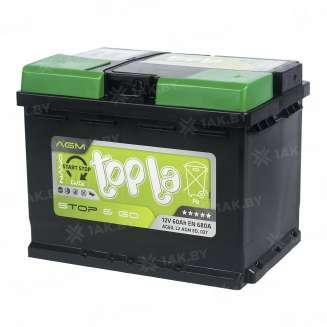 Аккумулятор TOPLA (60 Ah) 680 A, 12 V Обратная, R+ 0