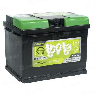 Аккумулятор TOPLA (60 Ah) 680 A, 12 V Обратная, R+ 2