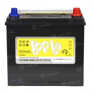 Аккумулятор TOPLA (60 Ah) 600 A, 12 V Обратная, R+ 0