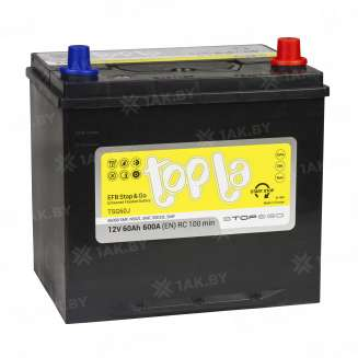 Аккумулятор TOPLA (60 Ah) 600 A, 12 V Обратная, R+ 1