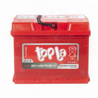 Аккумулятор TOPLA (66 Ah) 620 A, 12 V Обратная, R+ 0