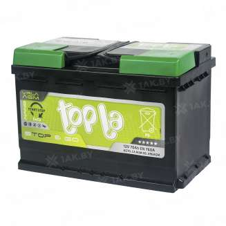 Аккумулятор TOPLA (70 Ah) 760 A, 12 V Обратная, R+ 1