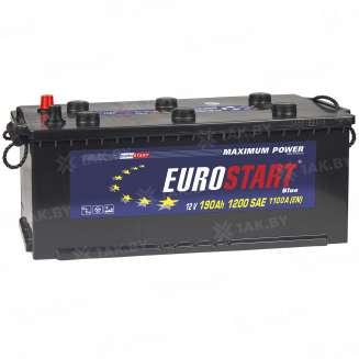 Аккумулятор EUROSTART (190 Ah) 1200 A, 12 V Обратная, R+ 1