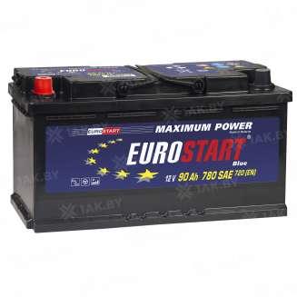 Аккумулятор EUROSTART (90 Ah) 700 A, 12 V Прямая, L+ 0