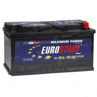 Аккумулятор EUROSTART (90 Ah) 700 A, 12 V Обратная, R+ 0