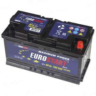 Аккумулятор EUROSTART (90 Ah) 700 A, 12 V Обратная, R+ 1