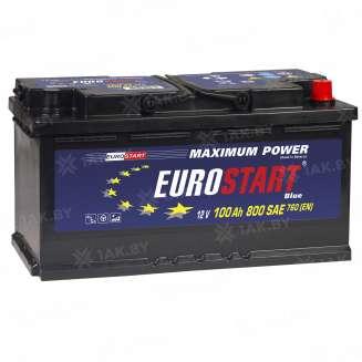 Аккумулятор EUROSTART (100 Ah) 800 A, 12 V Обратная, R+ 1