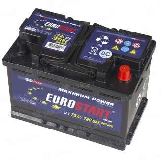 Аккумулятор EUROSTART (75 Ah) 615 A, 12 V Обратная, R+ 1