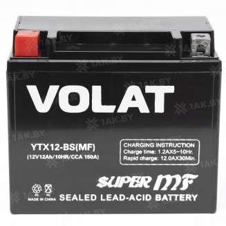 Аккумулятор VOLAT (12 Ah) 150 A, 12 V Прямая, L+ 2