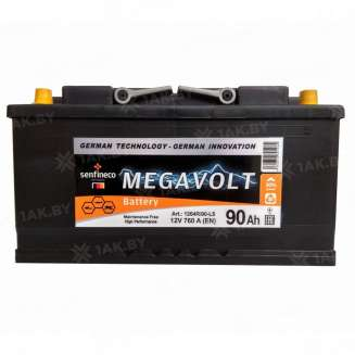 Аккумулятор MEGAVOLT (90 Ah) 760 A, 12 V Обратная, R+ 0