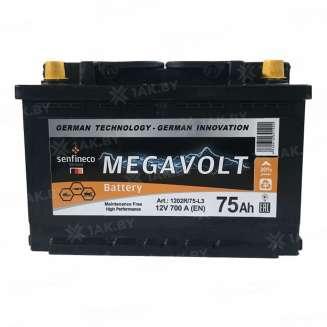 Аккумулятор MEGAVOLT (75 Ah) 700 A, 12 V Прямая, L+ 0