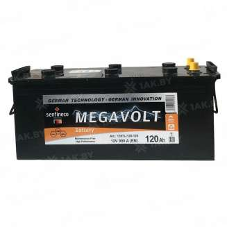Аккумулятор MEGAVOLT (120 Ah) 900 A, 12 V Прямая, L+ 0