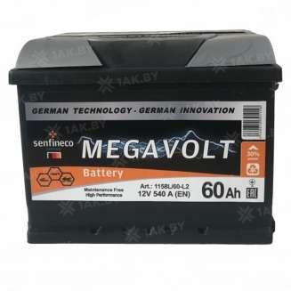 Аккумулятор MEGAVOLT (60 Ah) 540 A, 12 V Прямая, L+ 0