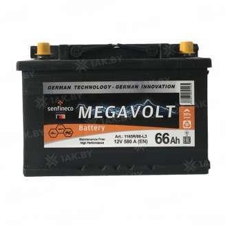 Аккумулятор MEGAVOLT (66 Ah) 580 А, 12 V Прямая, L+ 0