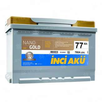 Аккумулятор INCI AKU (77 Ah) 760 A, 12 V Обратная, R+ 0