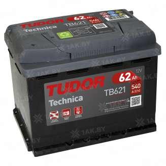 Аккумулятор TUDOR (62 Ah) 540 A, 12 V Обратная, R+ 0