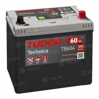 Аккумулятор TUDOR (60 Ah) 390 A, 12 V Обратная, R+ 0