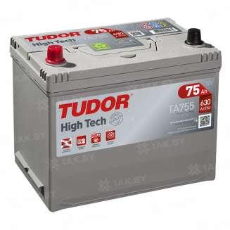 Аккумулятор TUDOR (75 Ah) 630 A, 12 V Прямая, L+ 0