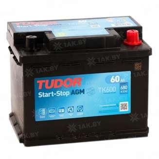 Аккумулятор TUDOR (60 Ah) 680 A, 12 V Обратная, R+ 0