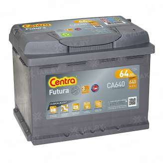 Аккумулятор CENTRA (64 Ah) 640 A, 12 V Прямая, L+ 0