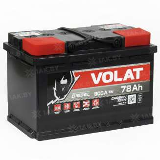 Аккумулятор VOLAT (78 Ah) 800 A, 12 V Прямая, L+ 0