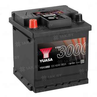 Аккумулятор YUASA (40 Ah) 360 A, 12 V Прямая, L+ 0