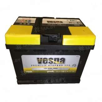 Аккумулятор VESNA (60 Ah) 580 А, 12 V Обратная, R+ 0