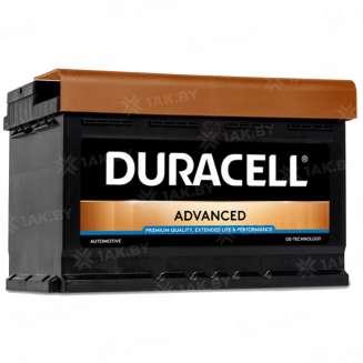 Аккумулятор Duracell (74 Ah) 680 A, 12 V Обратная, R+ 0