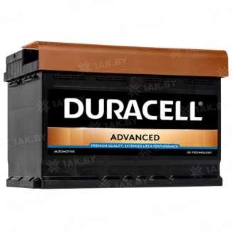 Аккумулятор Duracell (72 Ah) 660 A, 12 V Обратная, R+ 0